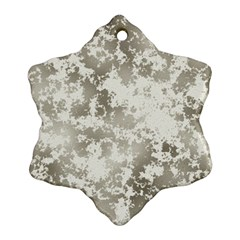 Wall Rock Pattern Structure Dirty Ornament (Snowflake)