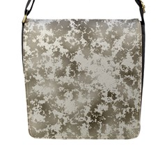 Wall Rock Pattern Structure Dirty Flap Messenger Bag (L)