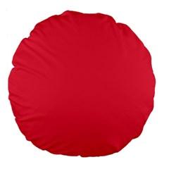 Neon Color - Brilliant Amaranth Large 18  Premium Flano Round Cushions