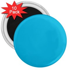 Neon Color - Brilliant Arctic Blue 3  Magnets (10 pack)