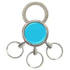 Neon Color - Brilliant Arctic Blue 3-Ring Key Chains