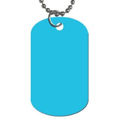 Neon Color - Brilliant Arctic Blue Dog Tag (Two Sides)