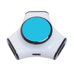 Neon Color - Brilliant Arctic Blue 3-Port USB Hub