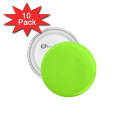 Neon Color - Brilliant Charteuse Green 1.75  Buttons (10 pack)
