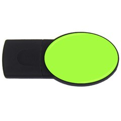 Neon Color - Brilliant Charteuse Green USB Flash Drive Oval (2 GB)