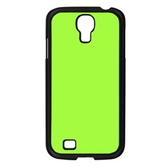 Neon Color - Brilliant Charteuse Green Samsung Galaxy S4 I9500/ I9505 Case (Black)