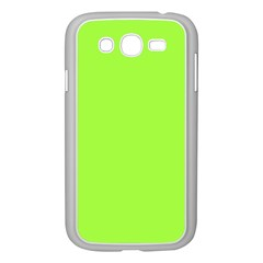 Neon Color - Brilliant Charteuse Green Samsung Galaxy Grand DUOS I9082 Case (White)