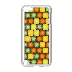 Random Hibiscus Pattern Apple iPod Touch 5 Case (White)
