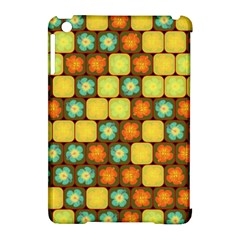 Random Hibiscus Pattern Apple iPad Mini Hardshell Case (Compatible with Smart Cover)