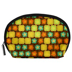 Random Hibiscus Pattern Accessory Pouches (Large)