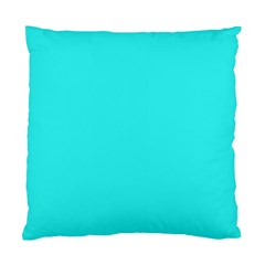 Neon Color - Brilliant Cyan Standard Cushion Case (One Side)