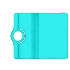 Neon Color - Brilliant Cyan Kindle Fire HDX 8.9  Flip 360 Case