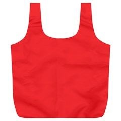 Neon Color - Brilliant Red Full Print Recycle Bags (L)