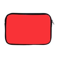 Neon Color   Brilliant Red Apple Macbook Pro 17  Zipper Case