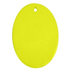 Neon Color - Brilliant Yellow Ornament (Oval)
