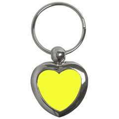 Neon Color - Brilliant Yellow Key Chains (Heart)