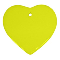 Neon Color - Brilliant Yellow Heart Ornament (Two Sides)