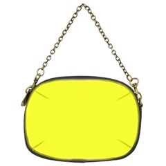 Neon Color - Brilliant Yellow Chain Purses (Two Sides)