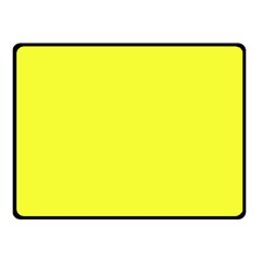 Neon Color - Brilliant Yellow Double Sided Fleece Blanket (Small)