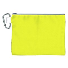Neon Color - Brilliant Yellow Canvas Cosmetic Bag (XXL)