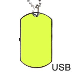 Neon Color - Light Brilliant Apple Green Dog Tag USB Flash (Two Sides)