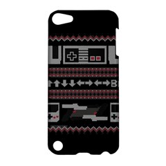 Old School Ugly Holiday Christmas Black Background Apple iPod Touch 5 Hardshell Case