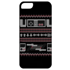 Old School Ugly Holiday Christmas Black Background Apple iPhone 5 Classic Hardshell Case