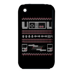 Old School Ugly Holiday Christmas Black Background iPhone 3S/3GS