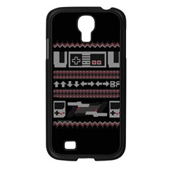 Old School Ugly Holiday Christmas Black Background Samsung Galaxy S4 I9500/ I9505 Case (black)