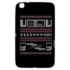 Old School Ugly Holiday Christmas Black Background Samsung Galaxy Tab 3 (8 ) T3100 Hardshell Case