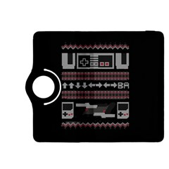 Old School Ugly Holiday Christmas Black Background Kindle Fire Hdx 8 9  Flip 360 Case