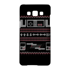 Old School Ugly Holiday Christmas Black Background Samsung Galaxy A5 Hardshell Case