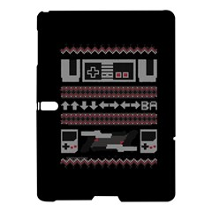 Old School Ugly Holiday Christmas Black Background Samsung Galaxy Tab S (10.5 ) Hardshell Case