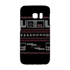 Old School Ugly Holiday Christmas Black Background Galaxy S6 Edge