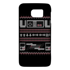 Old School Ugly Holiday Christmas Black Background Galaxy S6