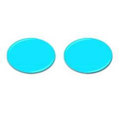 Neon Color - Light Brilliant Arctic Blue Cufflinks (Oval)