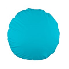 Neon Color - Light Brilliant Arctic Blue Standard 15  Premium Flano Round Cushions