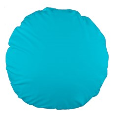 Neon Color - Light Brilliant Arctic Blue Large 18  Premium Flano Round Cushions
