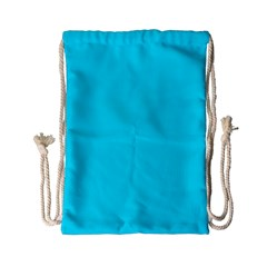 Neon Color - Light Brilliant Arctic Blue Drawstring Bag (Small)
