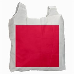 Neon Color - Light Brilliant Crimson Recycle Bag (One Side)