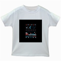 That Snow Moon Star Wars  Ugly Holiday Christmas Black Background Kids White T-Shirts