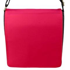 Neon Color - Light Brilliant Crimson Flap Messenger Bag (S)