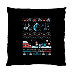 That Snow Moon Star Wars  Ugly Holiday Christmas Black Background Standard Cushion Case (One Side)