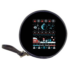 That Snow Moon Star Wars  Ugly Holiday Christmas Black Background Classic 20 Cd Wallets