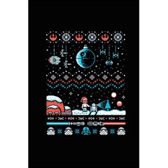 That Snow Moon Star Wars  Ugly Holiday Christmas Black Background 5 5  X 8 5  Notebooks