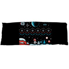 That Snow Moon Star Wars  Ugly Holiday Christmas Black Background Body Pillow Case Dakimakura (two Sides)