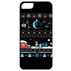 That Snow Moon Star Wars  Ugly Holiday Christmas Black Background Apple iPhone 5 Classic Hardshell Case