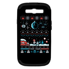 That Snow Moon Star Wars  Ugly Holiday Christmas Black Background Samsung Galaxy S Iii Hardshell Case (pc+silicone)