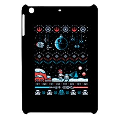 That Snow Moon Star Wars  Ugly Holiday Christmas Black Background Apple Ipad Mini Hardshell Case
