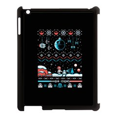 That Snow Moon Star Wars  Ugly Holiday Christmas Black Background Apple iPad 3/4 Case (Black)
